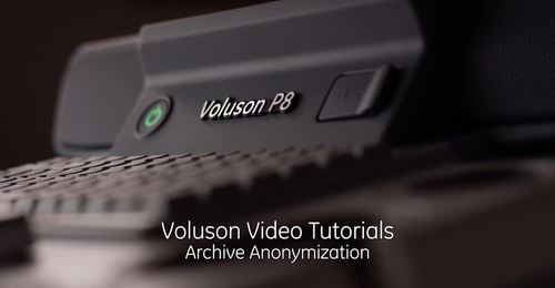 Voluson Performance series - Archive Anonymization – education video